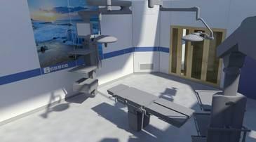 3D-Rendering Operationssaal