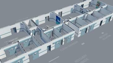 3D-Rendering Krankenhausetage innen