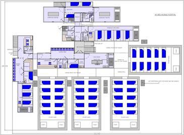 Zeichnung mobiles Krankenhaus