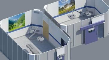 3D-Rendering Operationssäle