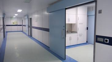 Corridor in the operating area